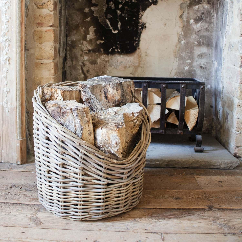 An image of Wicker Log Basket