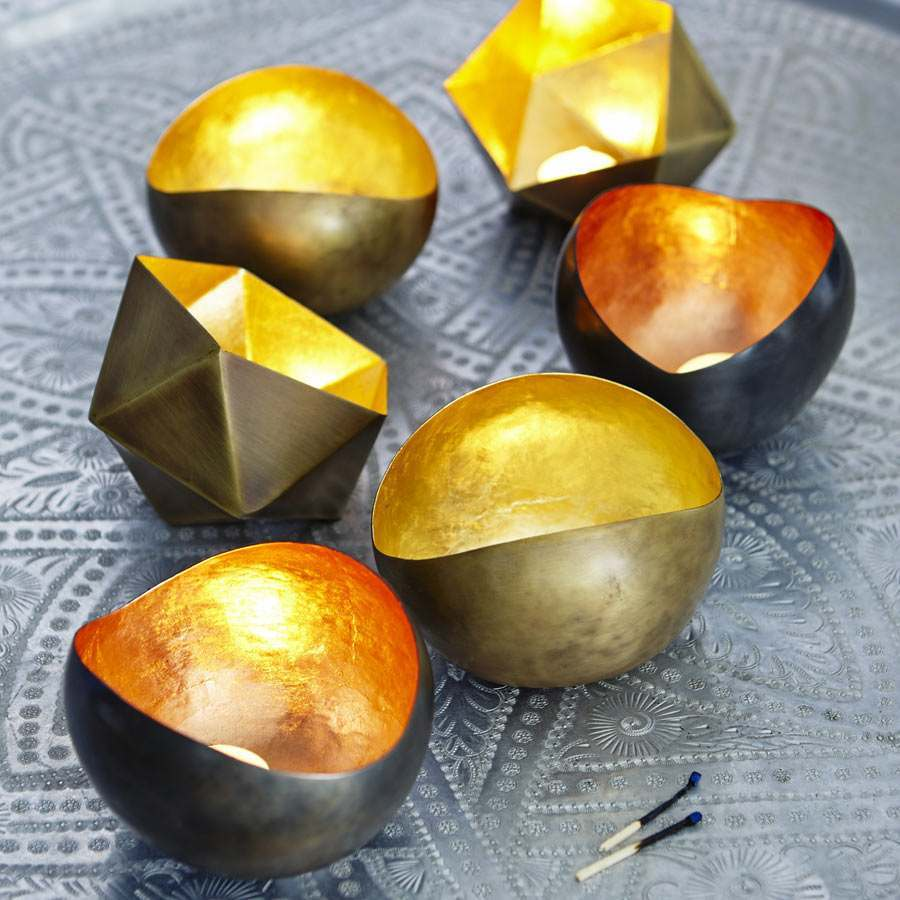 An image of Metal Tea Light Holders
