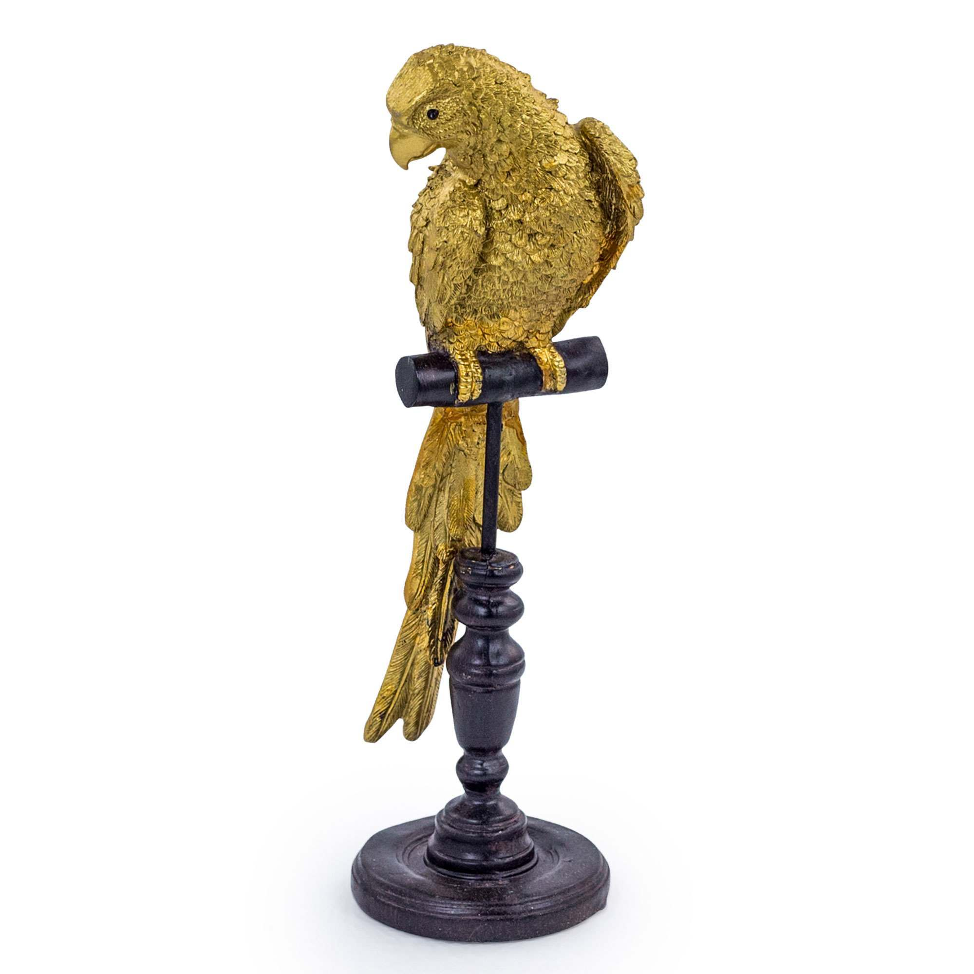 An image of Gold Parrot on Perch