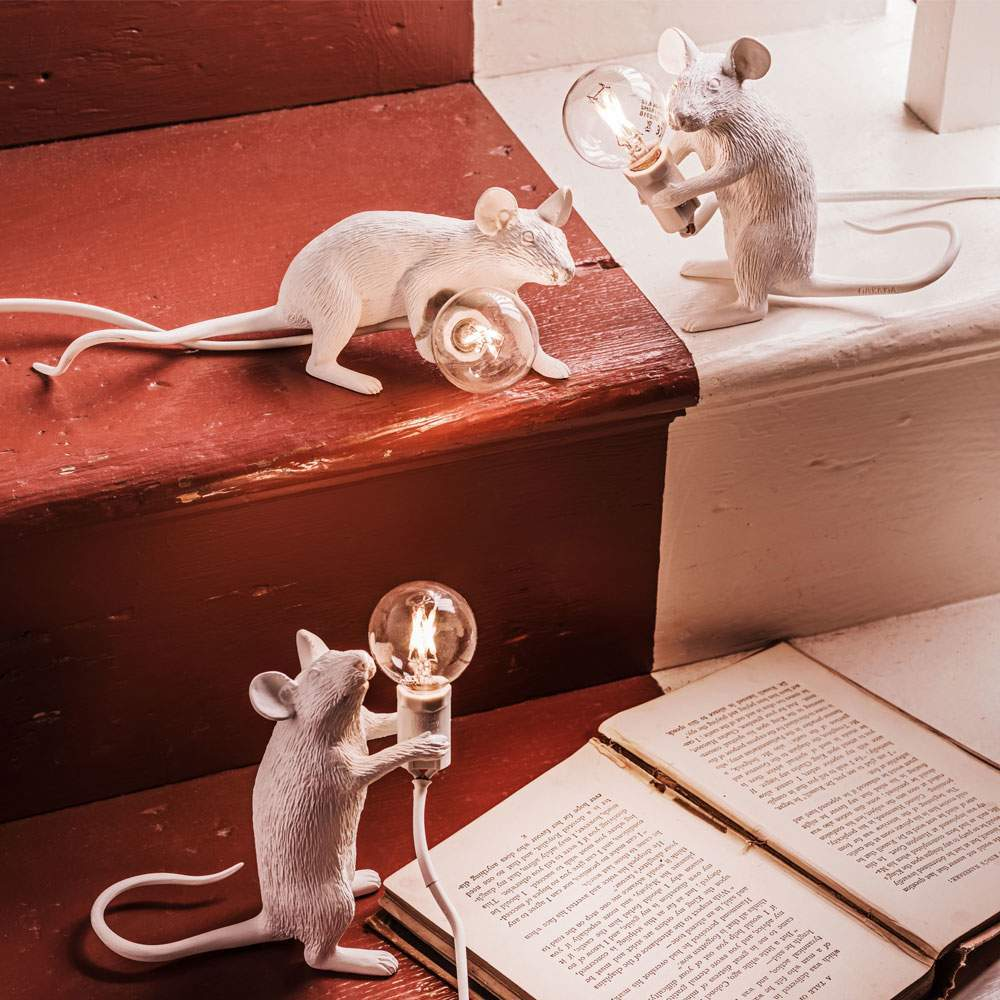 An image of White Mouse Lamps